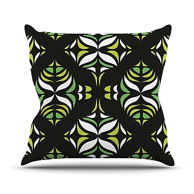KESS InHouse Retro Train Throw Pillow; 18'' H x 18'' W