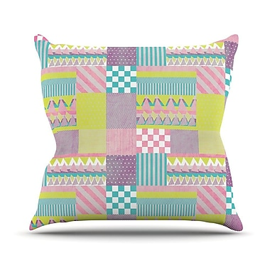 KESS InHouse Patchwork Throw Pillow; 20'' H x 20'' W
