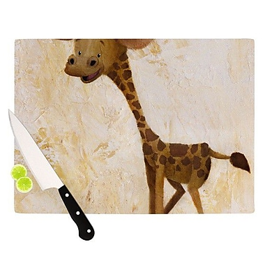 KESS InHouse Georgey The Giraffe Cutting Board; 11.5'' H x 15.75'' W x 0.15'' D