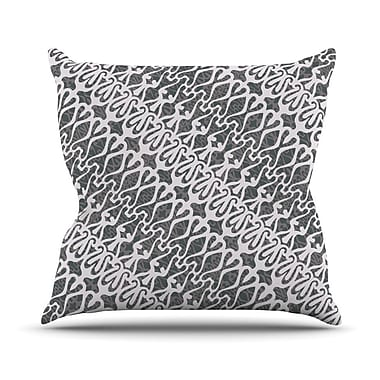 KESS InHouse Silver Lace Throw Pillow; 16'' H x 16'' W
