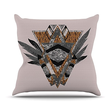 KESS InHouse Indian Feather Throw Pillow; 20'' H x 20'' W