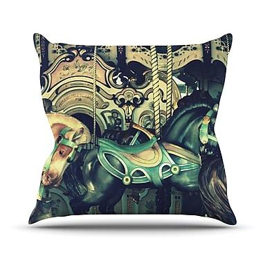 KESS InHouse Carousel Throw Pillow; 18'' H x 18'' W