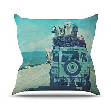 KESS InHouse Never Stop Exploring III Throw Pillow; 18'' H x 18'' W