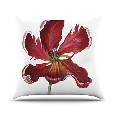 KESS InHouse Open Tulip Throw Pillow; 18'' H x 18'' W