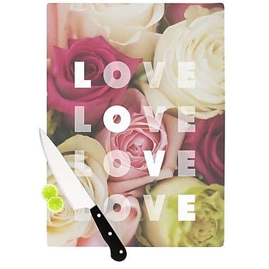 KESS InHouse Love Love Love Cutting Board; 11.5'' H x 15.75'' W x 0.15'' D