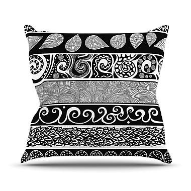 KESS InHouse Tribal Evolution Throw Pillow; 20'' H x 20'' W