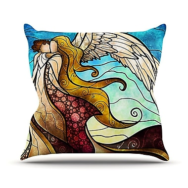 KESS InHouse In The Arms of The Angel Throw Pillow; 26'' H x 26'' W