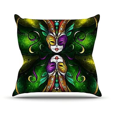 KESS InHouse Topsy Turvy Throw Pillow; 18'' H x 18'' W
