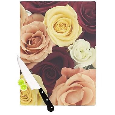 KESS InHouse Vintage Roses Cutting Board; 8.25'' H x 11.5'' W x 0.25'' D