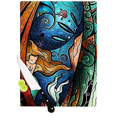 KESS InHouse Fathoms Below Mermaid Cutting Board; 8.25'' H x 11.5'' W x 0.25'' D