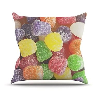 KESS InHouse I Want Gum Drops Throw Pillow; 20'' H x 20'' W
