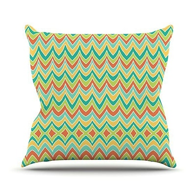 KESS InHouse Bright and Bold Throw Pillow; 20'' H x 20'' W