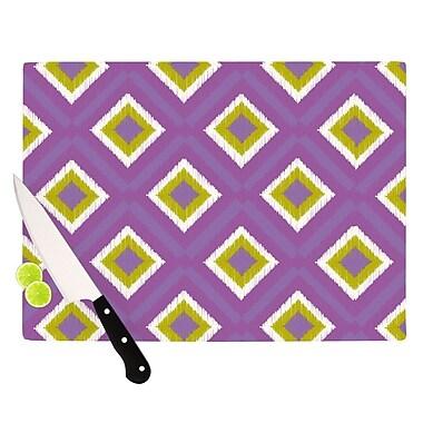 KESS InHouse Purple Splash Tile Cutting Board; 8.25'' H x 11.5'' W x 0.25'' D