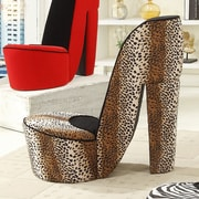 Williams Import Co. Leopard High Heel Side Chair