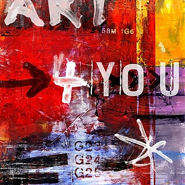 TAF DECOR Art-For-You Letra Art 33 Graphic Art on Wrapped Canvas