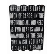 Cheungs Marriage Is Like A Deck of Cards Textual Art