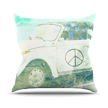 KESS InHouse Love Bug Throw Pillow; 26'' H x 26'' W