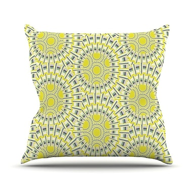 KESS InHouse Sprouting Cells Throw Pillow; 18'' H x 18'' W
