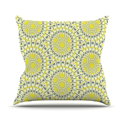 KESS InHouse Sprouting Cells Throw Pillow; 26'' H x 26'' W