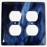 Hot Knobs Swirl 2 Gang Receptical Wall Plate
