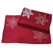 Xia Home Fashions Christmas Embroidered w/ Snowflakes Placemat (Set of 4)