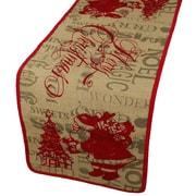 Xia Home Fashions Saint Nick Christmas on Printed Burlap Table Runner; 13'' W x 54'' L