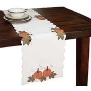 Xia Home Fashions Pumpkin Patch Embroidered Cutwork Linens Table Runner; 36'' W x 16'' L