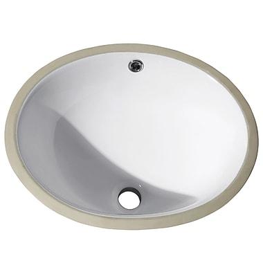 Avanity Vitreous China Oval Undermount Bathroom Sink w/ Overflow