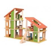 Plan Toys Chalet Dollhouse w/ Furniture
