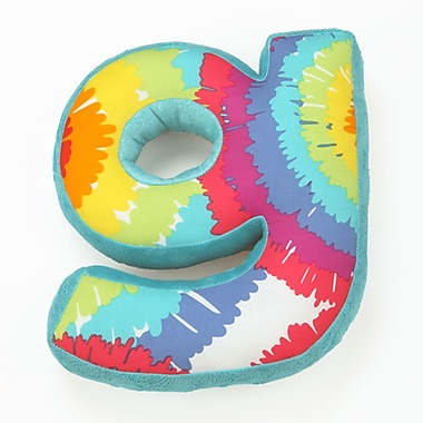 One Grace Place Terrific Tie Dye Letter Throw Pillow; G