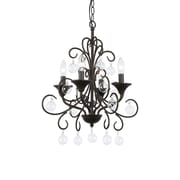 TransGlobe Lighting Liza 4-Light Candle-Style Chandelier