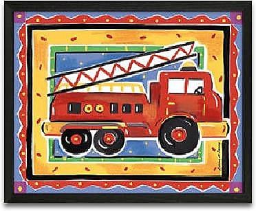 Timeless Frames Fire Engine Framed Graphic Art