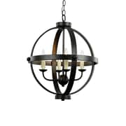 TransGlobe Lighting Old World Sphere 4-Light Globe Pendant
