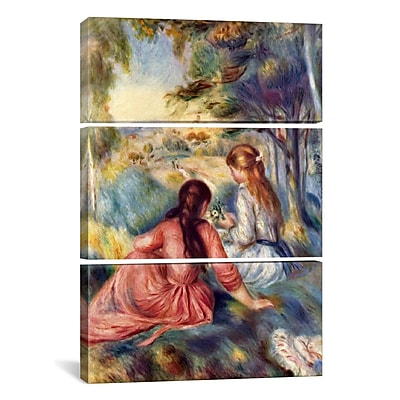 iCanvas In The Meadow by Pierre-Auguste Renoir 3 Piece Painting Print on Wrapped Canvas Set