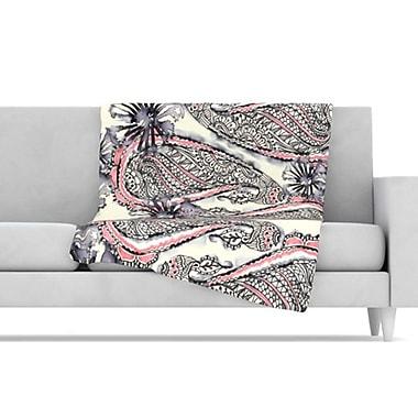KESS InHouse Inky Paisley Bloom Throw Blanket; 40'' L x 30'' W