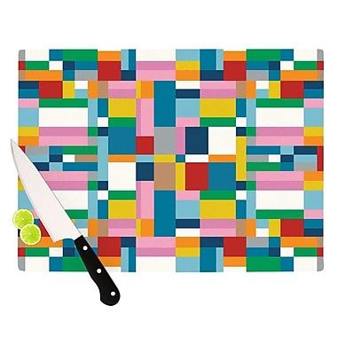 KESS InHouse Map Cutting Board; 8.25'' H x 11.5'' W x 0.25'' D