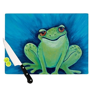 KESS InHouse Ribbit Ribbit Cutting Board; 11.5'' H x 15.75'' W x 0.15'' D
