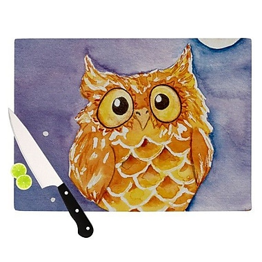 KESS InHouse Little Hoot Cutting Board; 11.5'' H x 15.75'' W x 0.15'' D