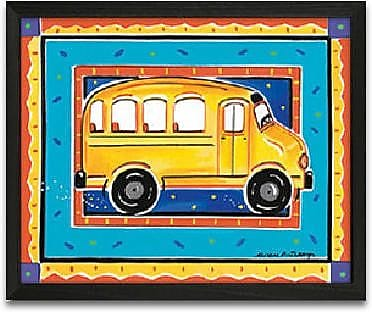 Timeless Frames School Bus Framed Graphic Art