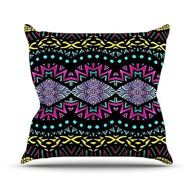 KESS InHouse Tribal Dominance Throw Pillow; 20'' H x 20'' W