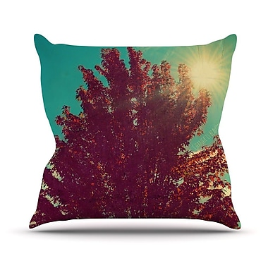 KESS InHouse Change Is Beautiful Throw Pillow; 18'' H x 18'' W