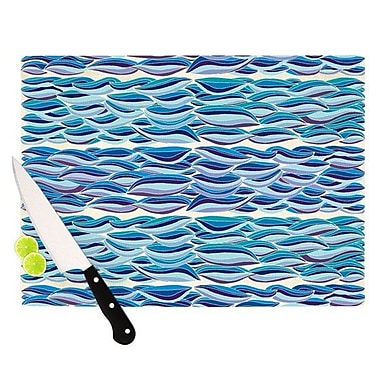 KESS InHouse The High Sea Cutting Board; 11.5'' H x 15.75'' W x 0.15'' D
