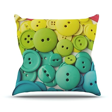 KESS InHouse Cute As A Button Throw Pillow; 20'' H x 20'' W