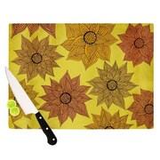 KESS InHouse Its Raining Flowers Cutting Board; 8.25'' H x 11.5'' W x 0.25'' D