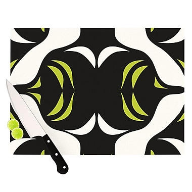 KESS InHouse Green White Jaws Cutting Board; 8.25'' H x 11.5'' W x 0.25'' D