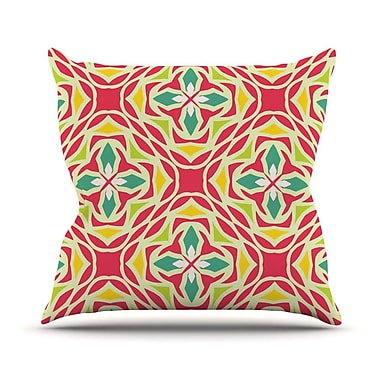 KESS InHouse Christmas Carnival Throw Pillow; 16'' H x 16'' W