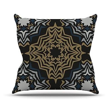 KESS InHouse Golden Fractals Throw Pillow; 20'' H x 20'' W
