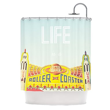 KESS InHouse Life Is A Rollercoaster Shower Curtain