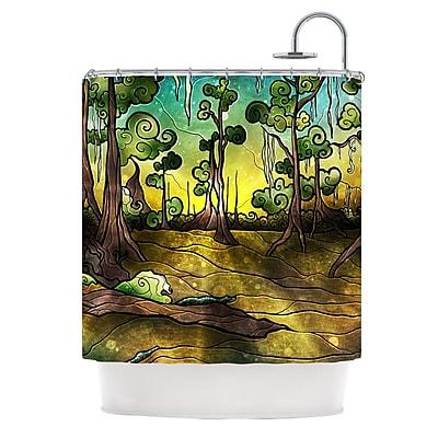 KESS InHouse Alligator Swamp Shower Curtain