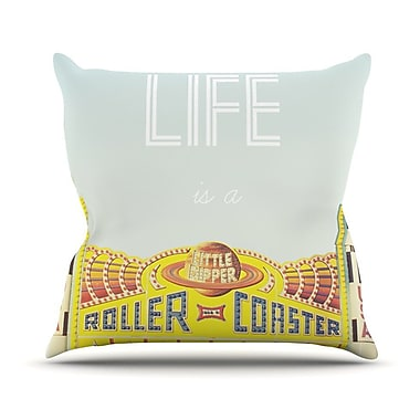 KESS InHouse Life Is A Rollercoaster Throw Pillow; 16'' H x 16'' W